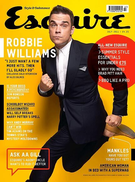 Робби Уильямс в журнале Esquire. UK. Июль 2011