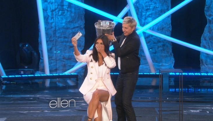 Ким Кардашян наконец-то приняла участие в Ice Bucket Challenge
