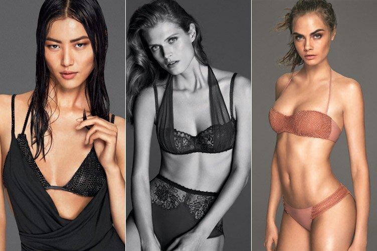 Кара Делевинь, Лю Вэнь и Малгосия Бела в рекламе La Perla