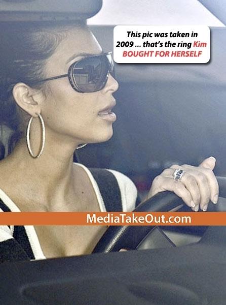 Ким Кардашиан рассказала правду о своем помолвочном кольце
