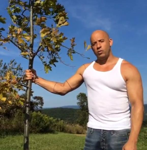 Вин Дизель призывает сажать деревья для Грута