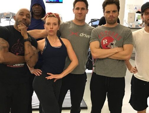 Скарлетт Йоханссон и Себастиан Стэн вместе готовятся к съемкам в «Мстителях: Война бесконечности»