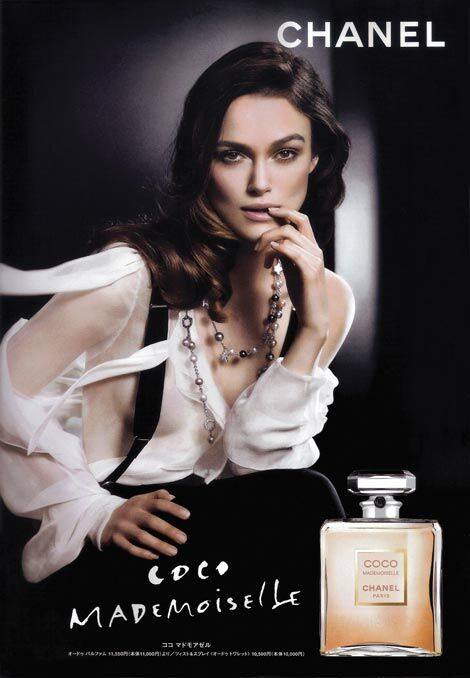 Кира Найтли для рекламной кампании Coco Mademoiselle
