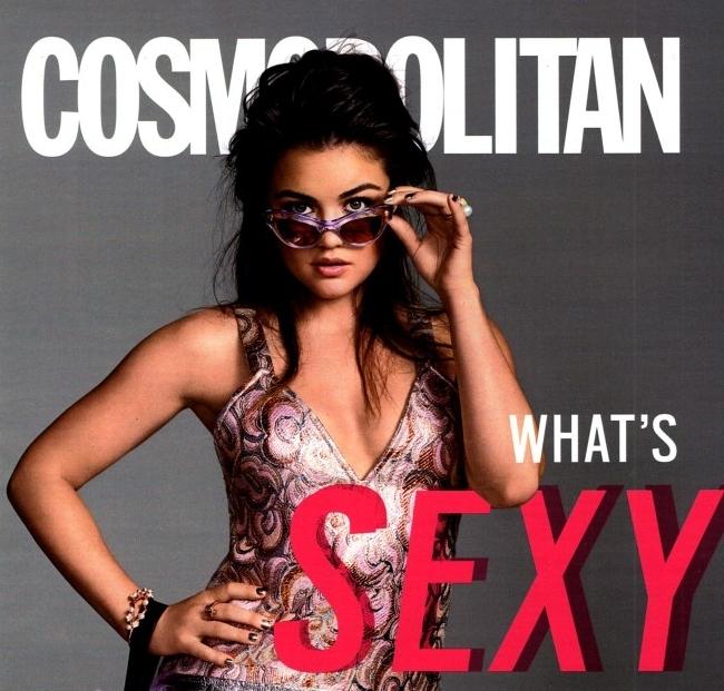 Люси Хейл в журнале Cosmopolitan. Сентябрь 2014