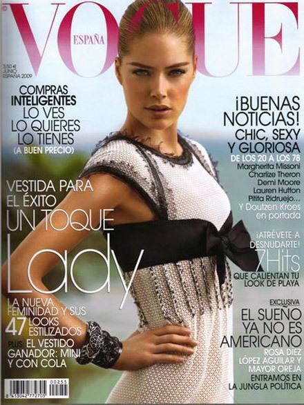 Даутцен Крез в журнале Vogue. Испания. Июнь 2009