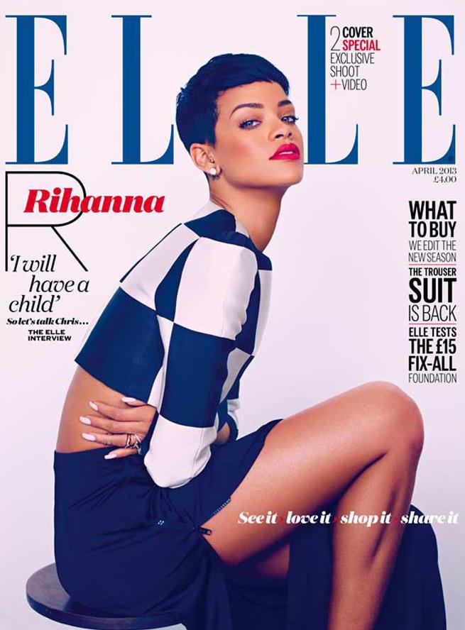 Рианна в журнале Elle Великобритания. Апрель 2013