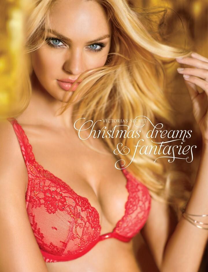 Кэндис Свейнпол и другие в рождественском каталоге Victoria's Secret