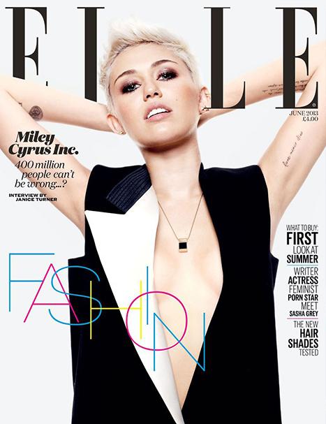 Майли Сайрус в журнале Elle Великобритания. Июнь 2013