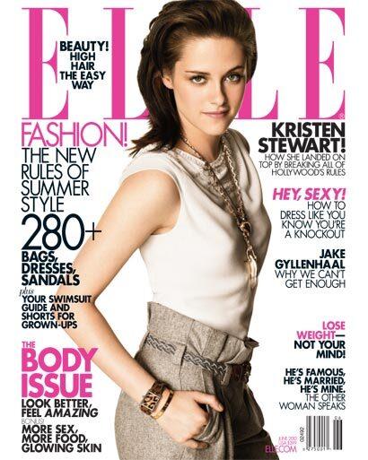 Кристен Стюарт в журнале Elle. Июнь 2010