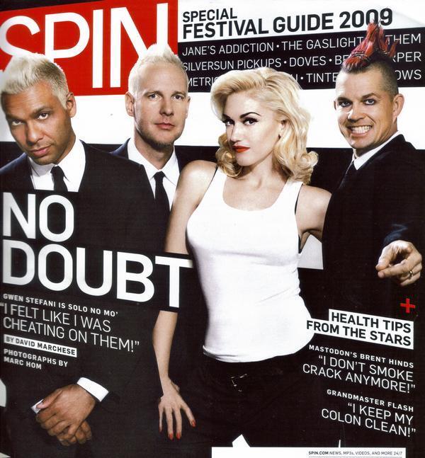 Группа No Doubt в журнале Spin. Май 2009