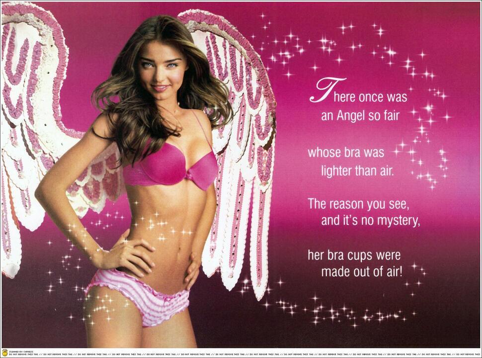 Миранда Керр для рекламы Angels Air Push-Up