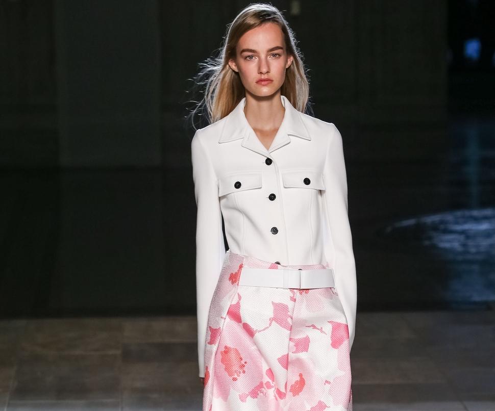 Модный показ новой коллекции Victoria Beckham. Весна / лето 2015
