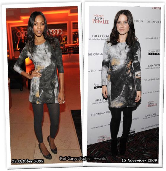 Fashion battle: Зои Салдана и София Буш