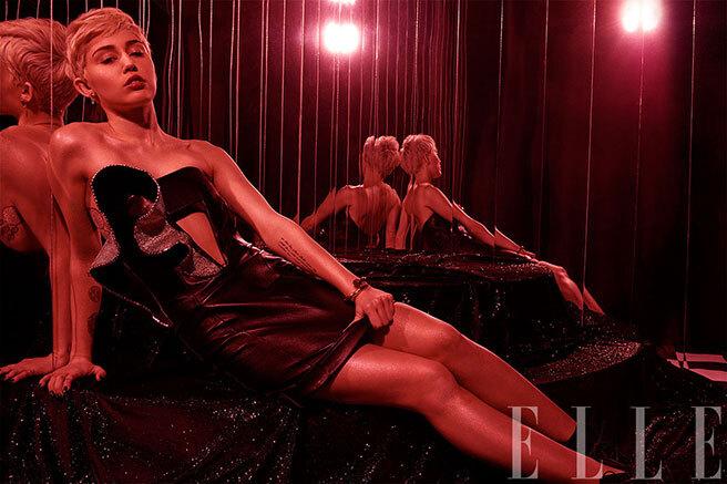 Майли Сайрус в журнале Elle. Май 2014