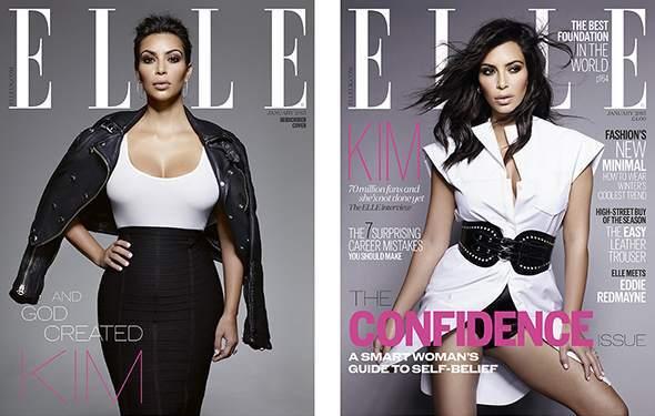 Ким Кардашян в журнале Elle Великобритания. Январь 2015