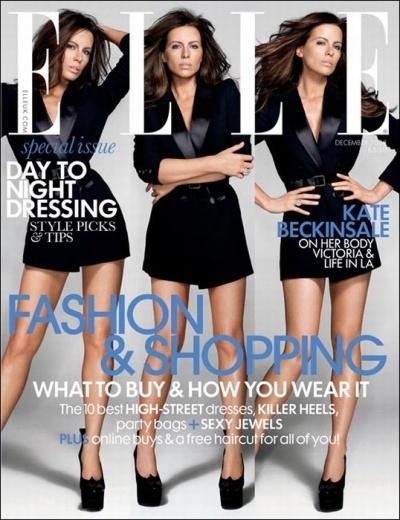 Кейт Бэкинсэйл в журнале Elle. Декабрь 2008
