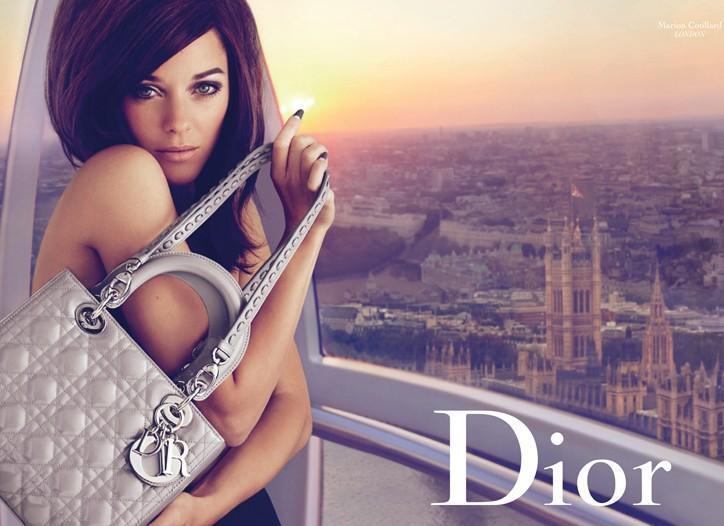 Марион Котийяр для рекламы сумок Christian Dior