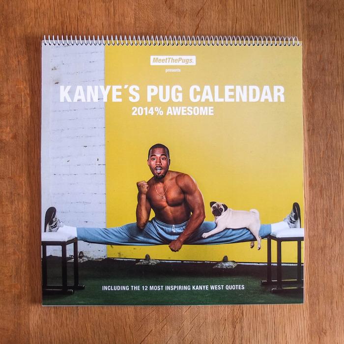 Календарь с Канье Уэстом и мопсами