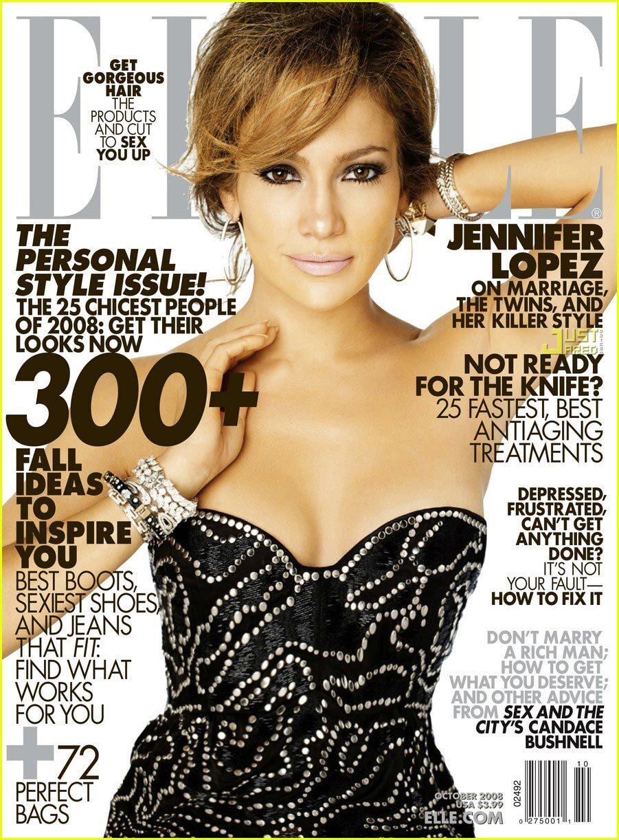 Дженнифер Лопес в журнале Elle. Октябрь 2008