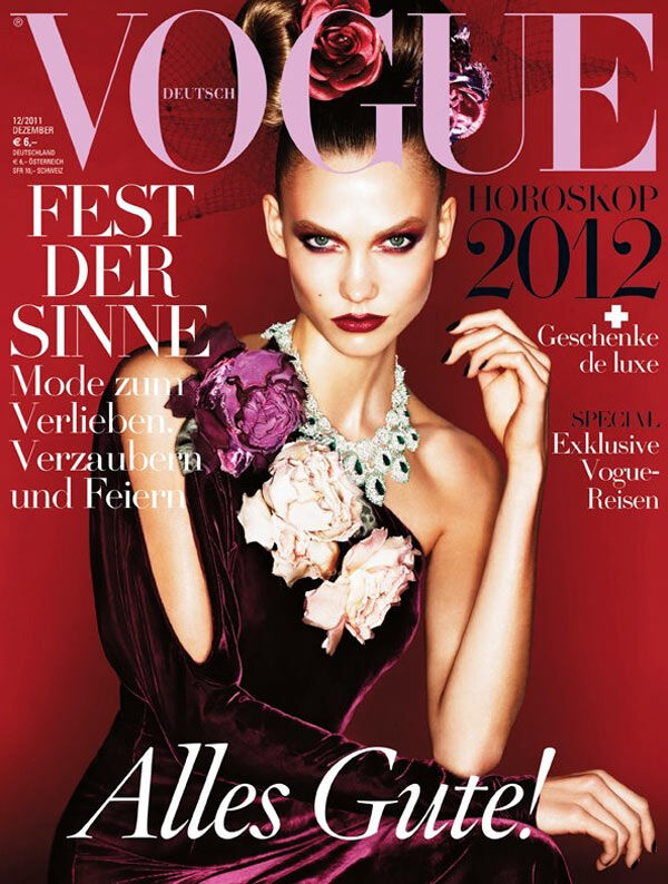 Карли Клосс в журнале Vogue. Германия. Декабрь 2011