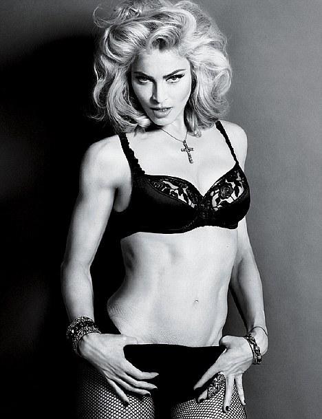 Тело Мадонны на фото не обрабатывают?