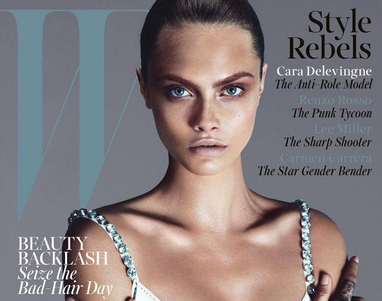 Кара Делевинь в журнале W и Vogue UK. Сентябрь 2013