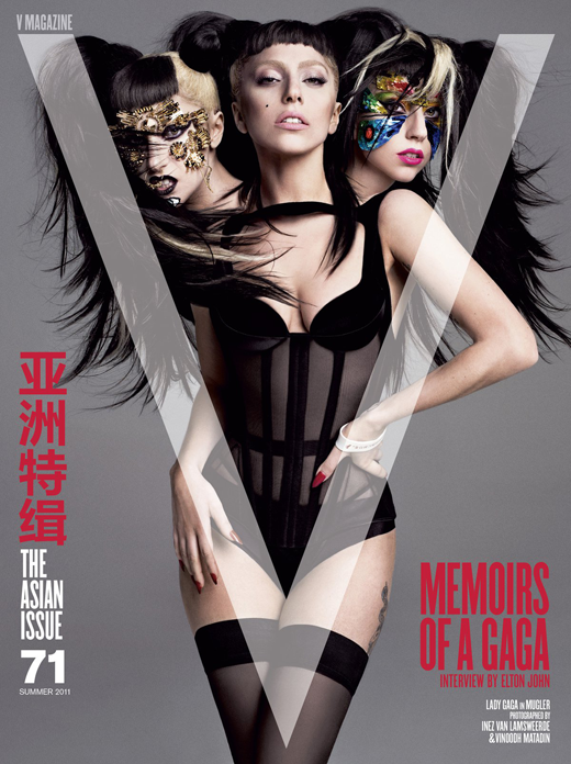 Lady GaGa на обложках журналов Yo Dona и V