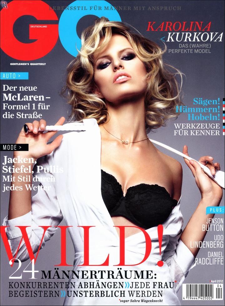 Каролина Куркова в журнале GQ Германия. Апрель 2012