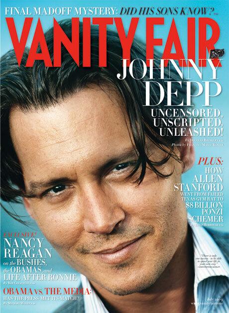 Джонни Депп в журнале Vanity Fair. Июль 2009