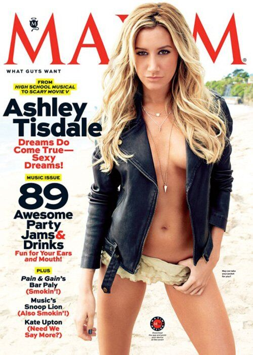 Эшли Тисдейл в журнале Maxim. Май 2013