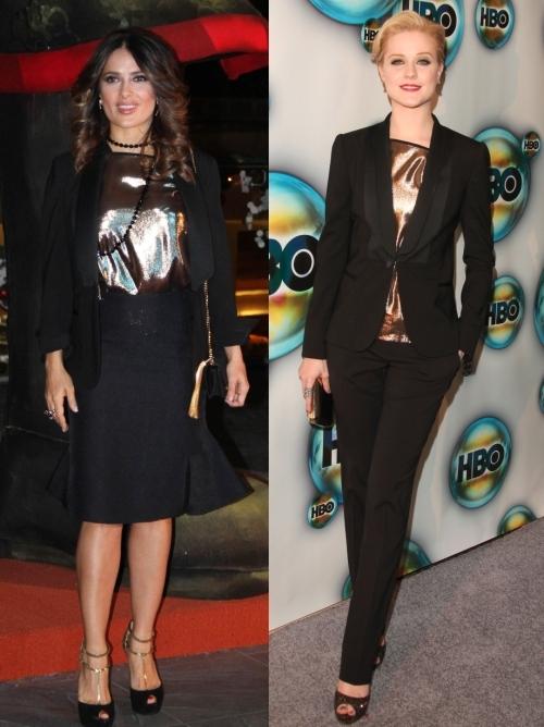 Fashion battle: Сальма Хайек и Ивэн Рэйчел Вуд