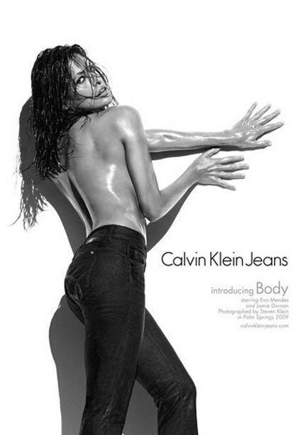 Ева Мендес и Джейми Дорнан в рекламе Calvin Klein