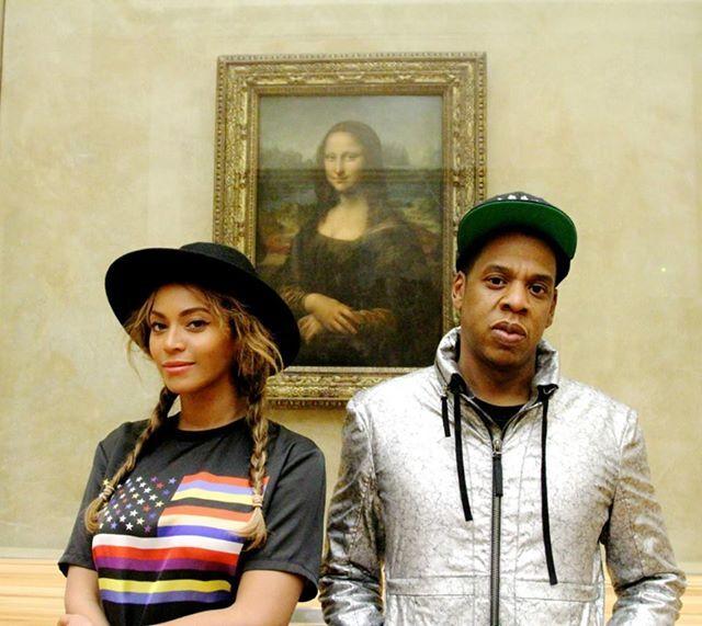 Бейонсе и Jay Z посетили Лувр