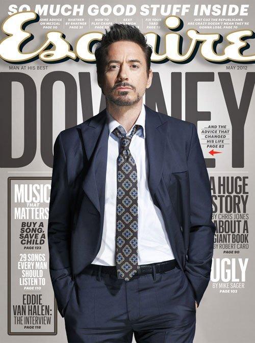 Роберт Дауни младший в журнале Esquire. Май 2012