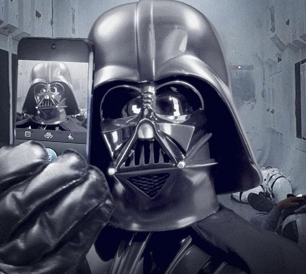 Дарт Вейдер засветился в Instagram