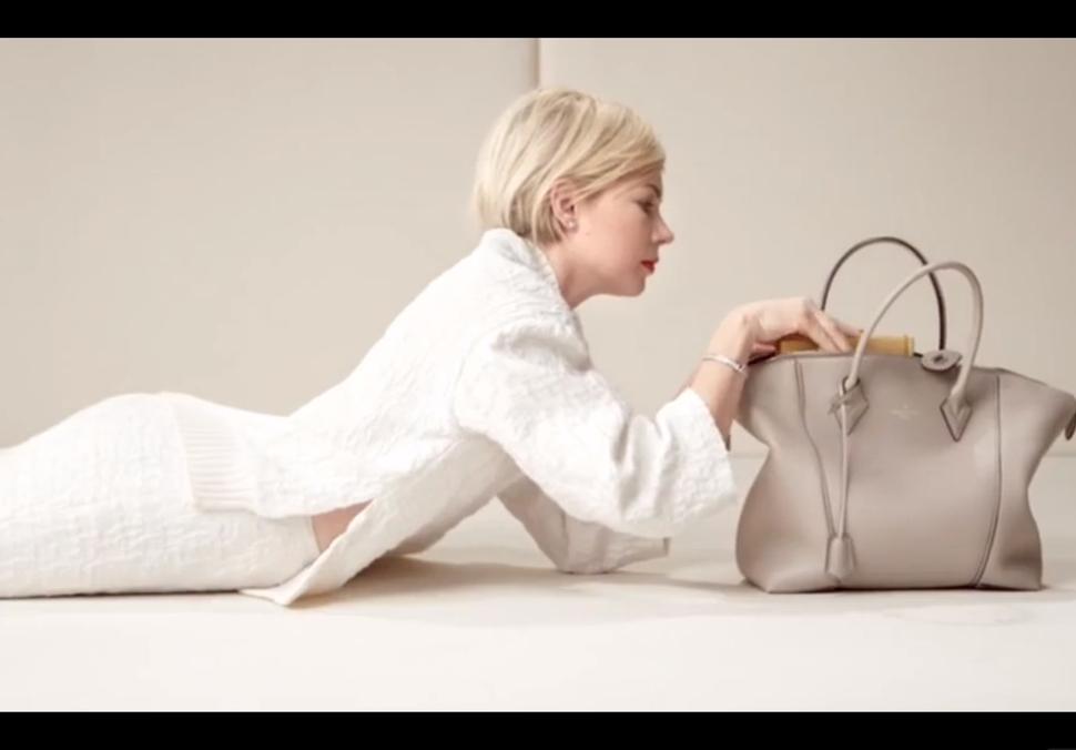 Видео: Мишель Уильямс на съемках рекламной кампании Louis Vuitton 2014