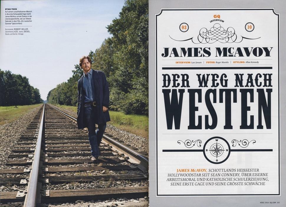 Джеймс МакЭвой в журнале GQ Germany. Март 2010