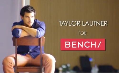 Видео: Тейлор Лотнер на съемках новой рекламной кампании Bench/