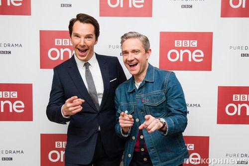 Бенедикт Камбербэтч, Мартин Фриман и другие звезды «Шерлока» на премьере 4 сезона
