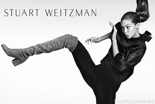 ДжиДжи Хадид снялась в новой рекламной кампании Stuart Weitzman