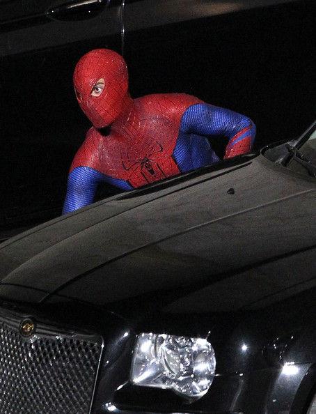 """Эндрю Гарфилд на съемках фильма """"Человек-паук 4"""""""