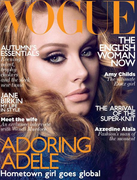 Адель в журнале Vogue UK. Октябрь 2011