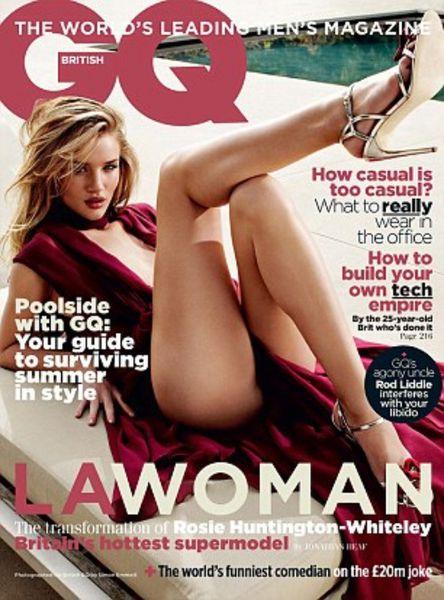 Роузи Хантингтон-Уайтли в журнале GQ. Июль 2011