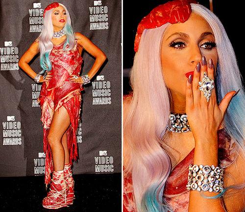 Наряд Lady Gaga на VMA был действительно из настоящего мяса