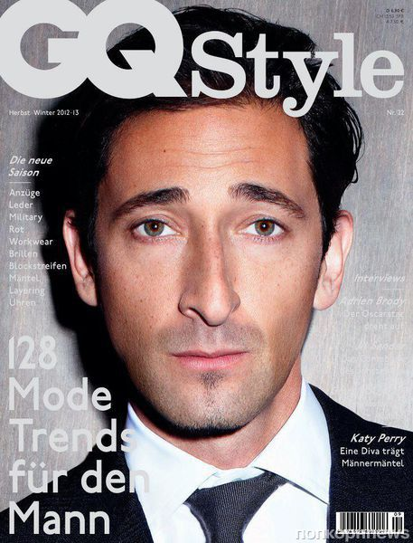 Эдриан Броуди в журнале GQ Style Германия. Осень / зима 2012-2013