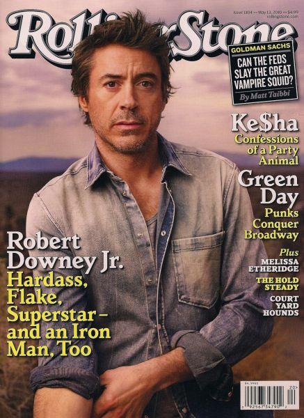 Роберт Дауни младший в журнале Rolling Stone. Май 23