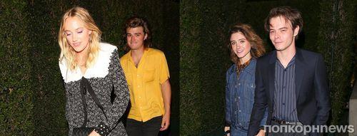 Двойное свидание»: звезды «Очень странных дел» Джо Кири и Чарли Хитон со своими девушками на вечеринке Miu Miu