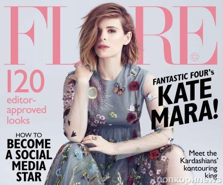 Кейт Мара в журнале  Flare. Август 2015