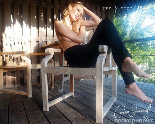 Кэндис Свэйнпоул в рекламной кампании Rag & Bone. Осень 2011