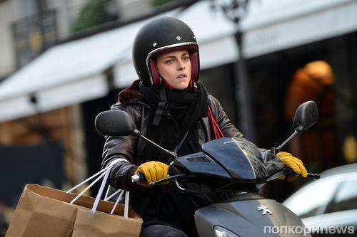 Кристен Стюарт за рулем мотоцикла на съемках нового фильма